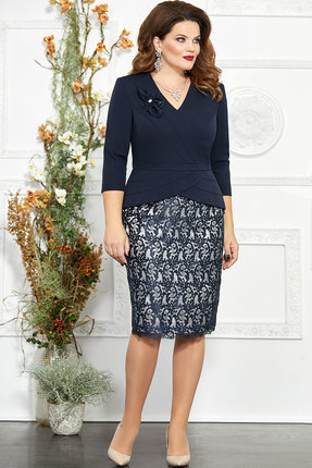 Платье Mira Fashion 4850-2 тёмно-синий