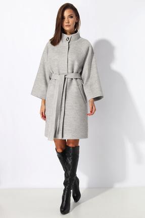 Пальто Миа Мода 1058-4 серые тона