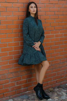 Платье Krasa 200-20 бирюзовые тона