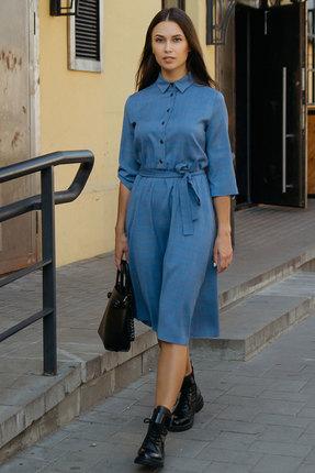 Платье Krasa 144-20 синие тона