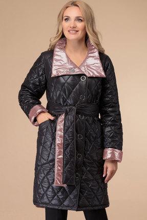 Пальто Svetlana Style 1458 черный с розовым