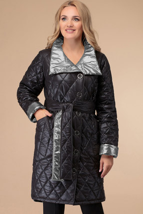 Пальто Svetlana Style 1458 черный с серым