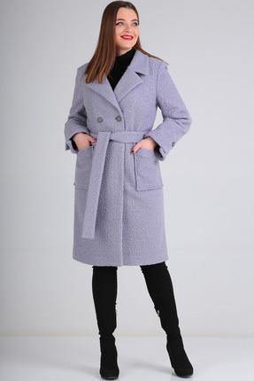 Пальто Axxa 84891А  серо-голубой