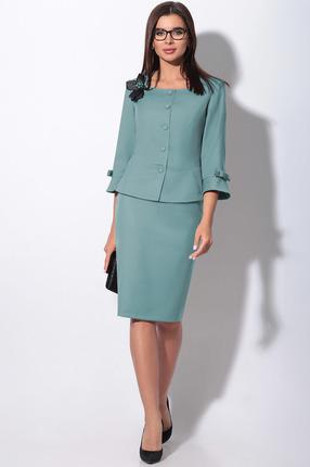 Комплект юбочный LeNata 23757 серо-голубой