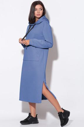 Платье LeNata 11158 темно-голубой