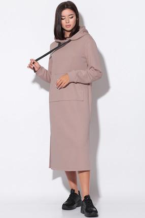 Платье LeNata 11158 какао