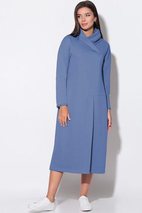 Платье LeNata 11156 темно-голубой