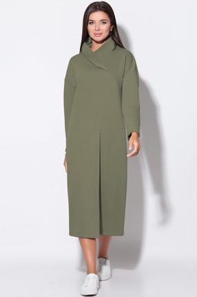 Платье LeNata 11156 хаки