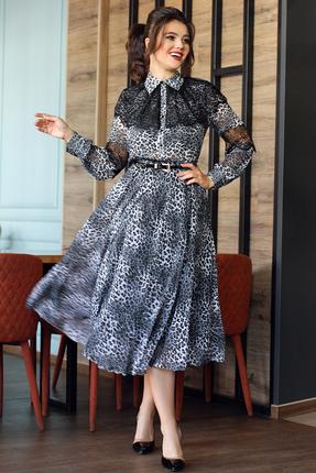 Платье Мода-Юрс 2544 серый леопард