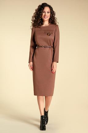 Платье Магия Моды 1802 коричневые тона