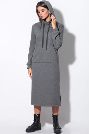 Платье LeNata 11158 серый