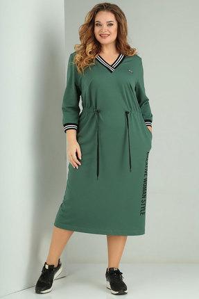 Платье Ксения Стиль 1829 зеленый