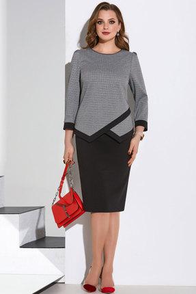 Комплект юбочный Lissana 4195 черный с серым