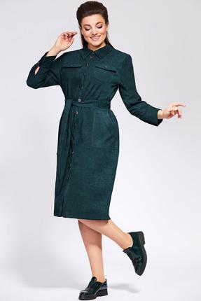 Платье Olga Style 589 морская волна