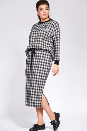 Комплект юбочный Olga Style 693 белый с черным
