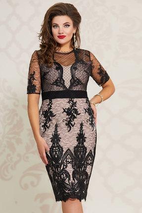 Платье Vittoria Queen 10413/2 черный с телесным