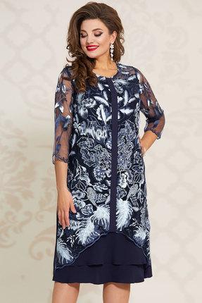 Платье Vittoria Queen 12583 синий с белым