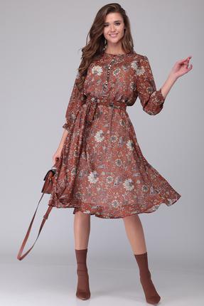 Платье Verita Moda 1254.2 коричневые тона