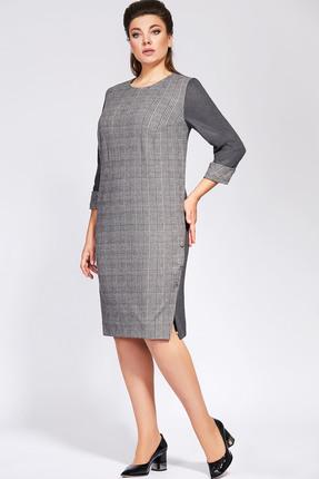 Платье Olga Style 694 серый