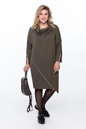 Платье Pretty 957 серо-зеленый
