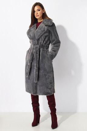 Пальто Миа Мода 1194 серый