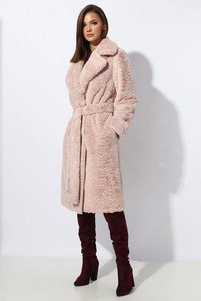 Пальто Миа Мода 1194-1 розовый с пудрой