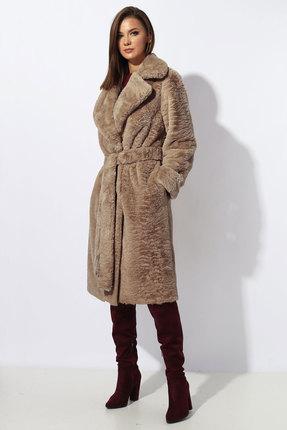 Пальто Миа Мода 1194-2 темные тона