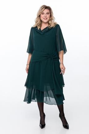Платье Pretty 1164 изумрудный