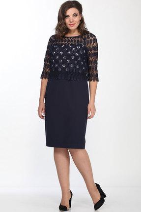 Платье Lady Style Classic 922 темно-синий