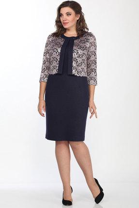 Платье Lady Style Classic 552 темно-синий с розовым