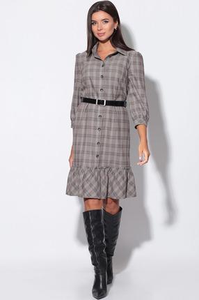 Платье LeNata 11160 серо-коричневый