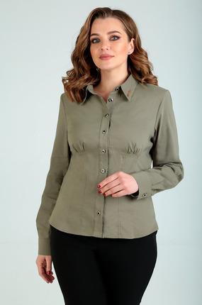 Рубашка Таир-Гранд 62154 зеленые тона