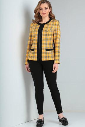 Жакет Ришелье 740 чёрный+жёлтый