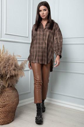 Рубашка SandyNa 13864 шоколадный