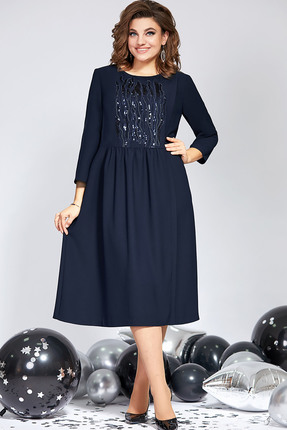 Платье Милора-Стиль 821 синий