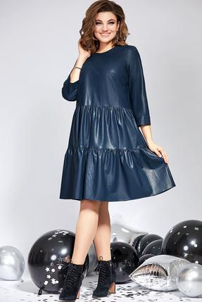 Платье Милора-Стиль 822 синие тона