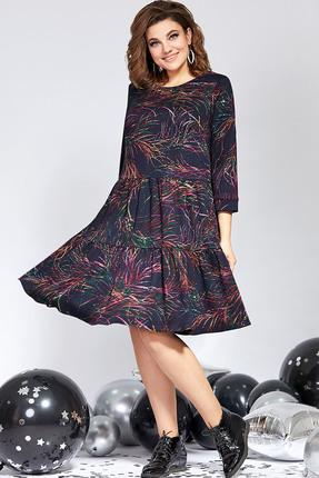 Платье Милора-Стиль 822 темно-синий