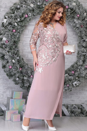 Платье Ninele 5801 пудра