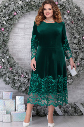 Платье Ninele 5811 изумруд