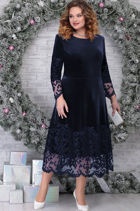 Платье Ninele 5811 тёмно-синий