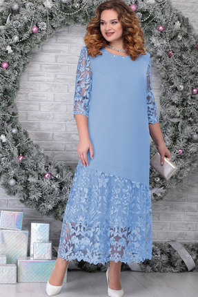 Платье Ninele 7306 голубой
