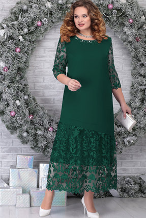 Платье Ninele 7306 изумруд