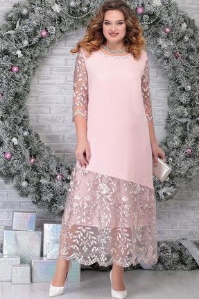 Платье Ninele 7306 пудра