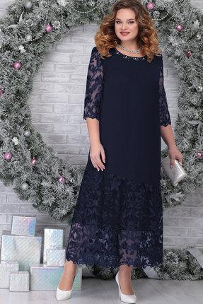 Платье Ninele 7306 тёмно-синий