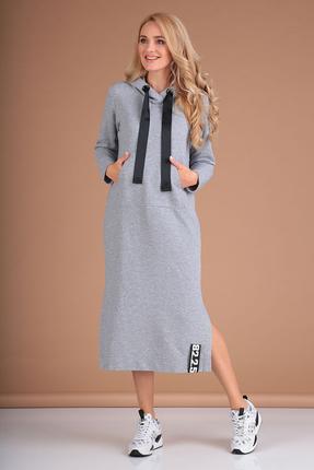 Платье Flovia 4057 серые тона
