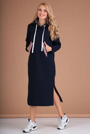 Платье Flovia 4058 темно-синий