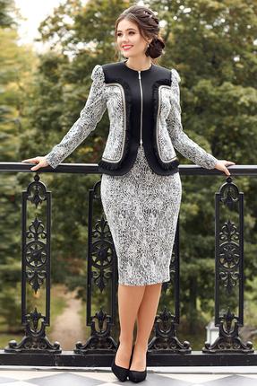 Комплект юбочный Мода-Юрс 2540 серый  с черным