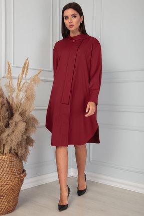 Платье SandyNa 13849 вишневый