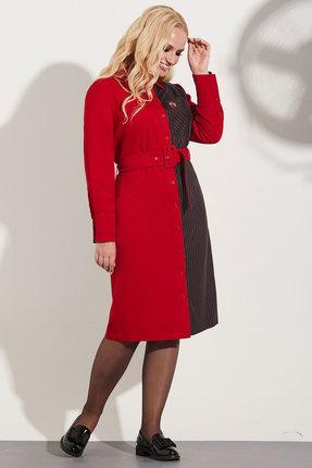 Платье Golden Valley 4641 красный с черным