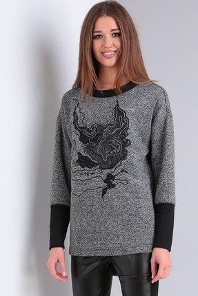 Джемпер Viola Style 1109 серый с черным